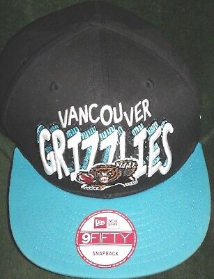 NBA Vancouver Grizzlies Throwback Snapback Hat Cap Mitchell & Ness Vintage Retro