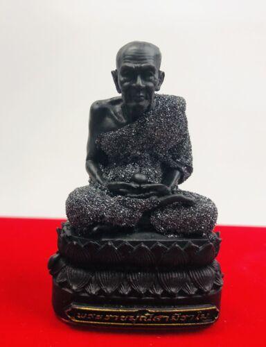 Black Mix LEKLAI Phra Lp Tuad Thuad Monk statue Thai Buddha Amulet Lp Somporn