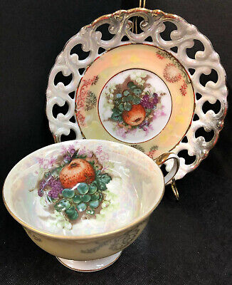 Vintage Tea Cup &Saucer LM Royal Halsey Very Fine -