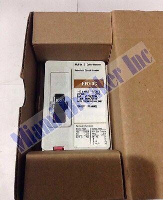 Hfddc2100l Cutler Hammer Circuit Breaker 2 Pole 100 Amp 250v New In Box