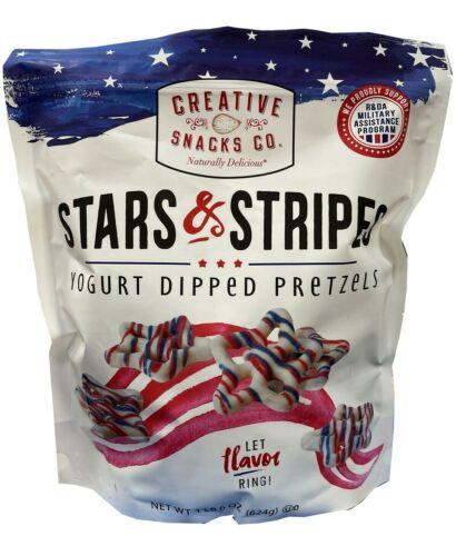 stars & stripes yogurt dipped pretzels 1 lb 6 oz