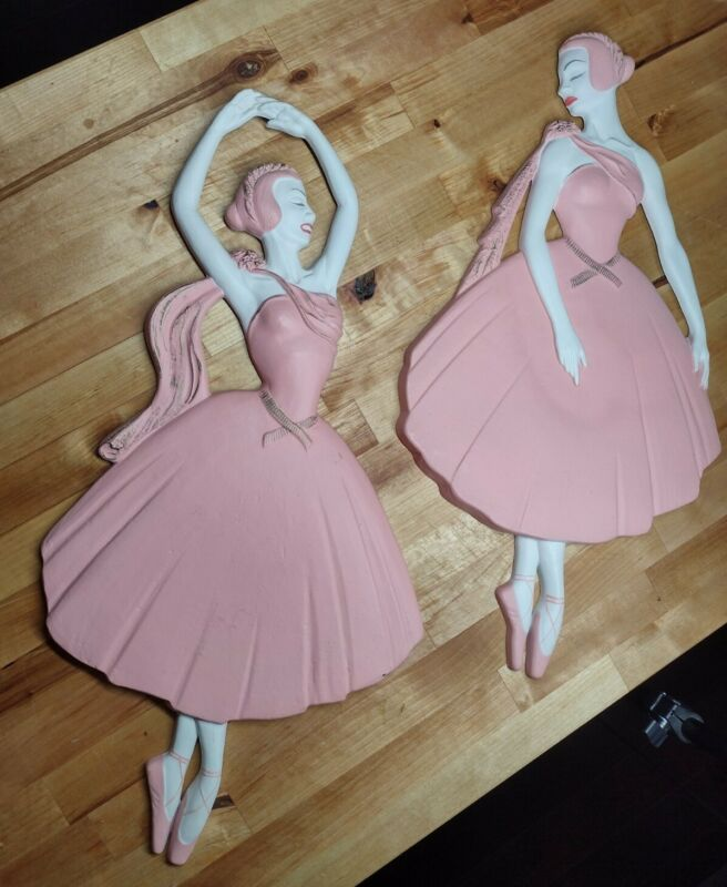 Vintage 1959 Miller Studios Ballerina Wall Pocket Mid century