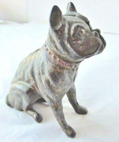 Vintage Cast Iron Bank- Bull Dog- Bulldog