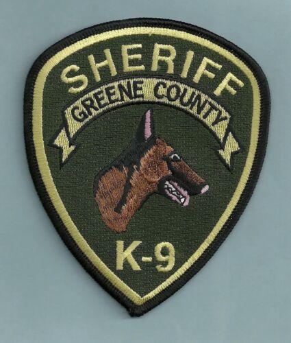 GREENE COUNTY SHERIFF POLICE K-9 UNIT PATCH GEORGIA