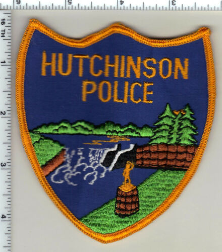 Hutchinson Police (Minnesota)  Shoulder Patch  - new from 1991