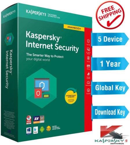 KASPERSKY INTERNET Security 2021 - 1 Year - 5 Device - Global Key