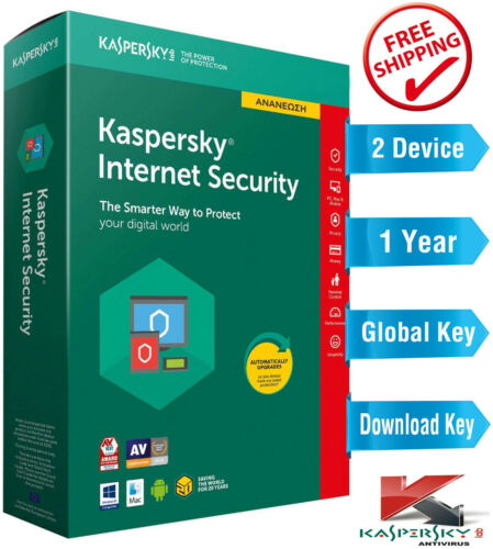 KASPERSKY INTERNET Security 2021 - 1 Year - 2 Device - Global Key