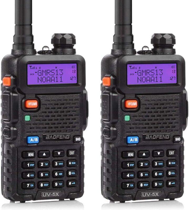 BAOFENG UV-5X UV-5G GMRS Radio Repeater Capable Long Range Radio NOAA 2pcs