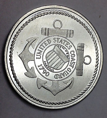 US Coast-Guard-and-New-London-CT-Souvenir-Token-1646-1996 Commemorative+USCG Map