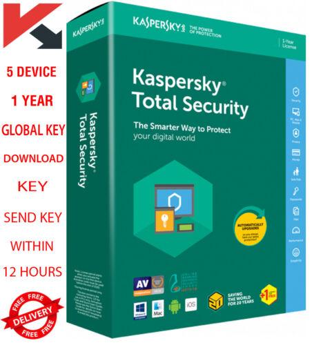 Kaspersky Total 2021 1 Year 5 Device - Global Key 18.25