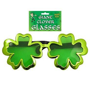 Oversized Shamrock Sunglasses Irish Theme Football Patricks Day Party Pub