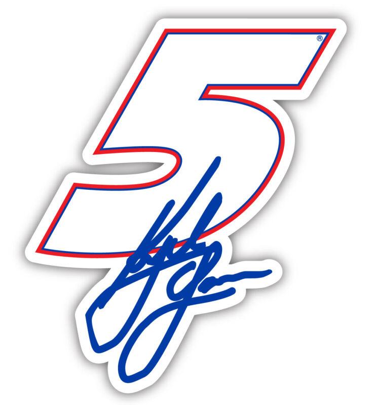 "Kyle Larson NASCAR #5 4"" Laser Cut Deca 4-Pack"