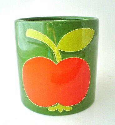 Vintage 1970's West Germany Pottery Waechtersbach Apple Jar or Vase