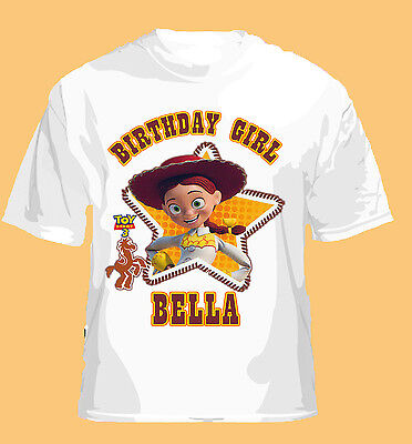 NEW TOY STORY 3 JESSIE HOWDY GIRL PERSONALIZED T SHIRT ADD NAME DISNEY AND PIXAR