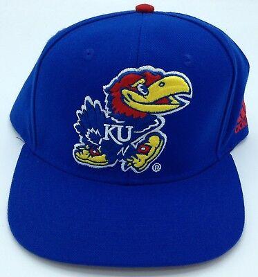 e44bda8ae5fa4 NCAA Kansas Jayhawks Adidas Structured Snap Back Cap Hat Beanie Style   VI95Z NEW