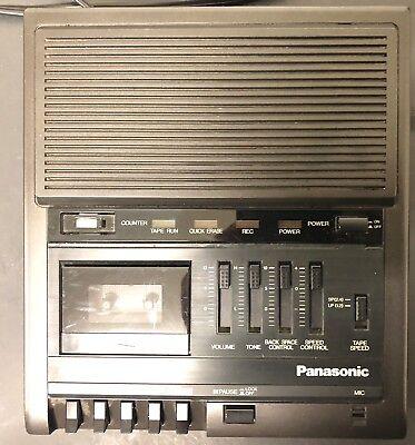 Panasonic Rr-930 Microcassette Transcriber Recorder Tested Working