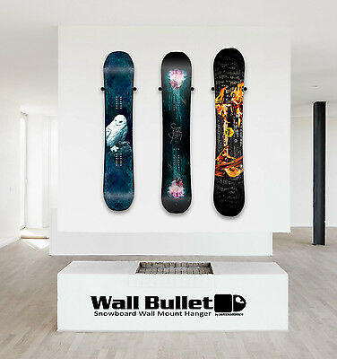 Wall Bullet Snowboard Wall Mount Hanger Display Capita Burton Never Summer Arbor