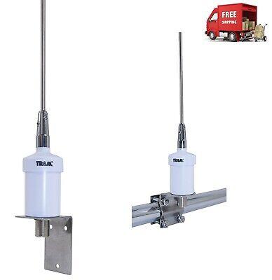 Powerfull Heavy-Duty VHF Marine Radio Antenna Stainless Steel Transceiver 15ft