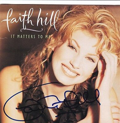 """The """"It Matters To Me"""" CD signed by Faith Hill"""