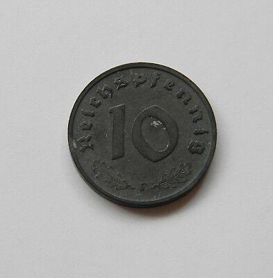 DRITTES REICH: 10 Reichspfennig 1943 F J. 371, stempelglanz,   II.