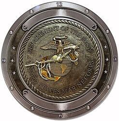 Pesonalized Marine Corps Wall Clock Gift Award