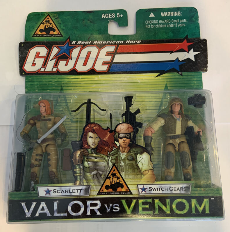 GI Joe Valor vs Venom Desert Patrol Squad SCARLETT & SWITCH GEARS