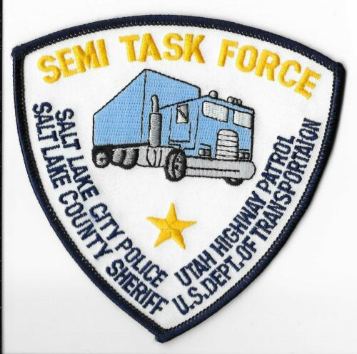 Utah Semi Task Force, Salt Lake City Police/Sheriff/Highway Patrol/DOT Patch
