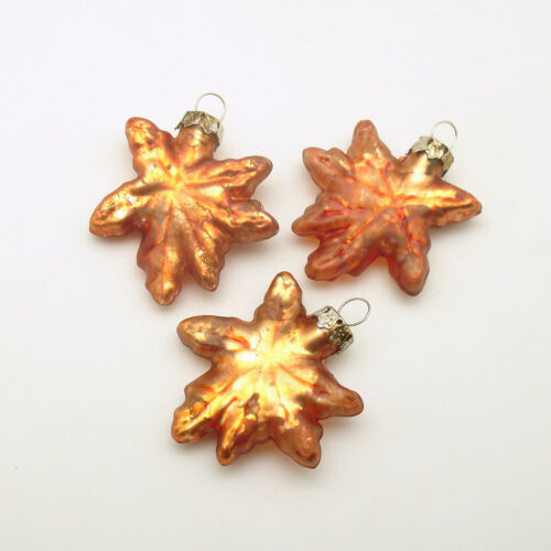 Glass Christmas Ornaments Maple Leaf