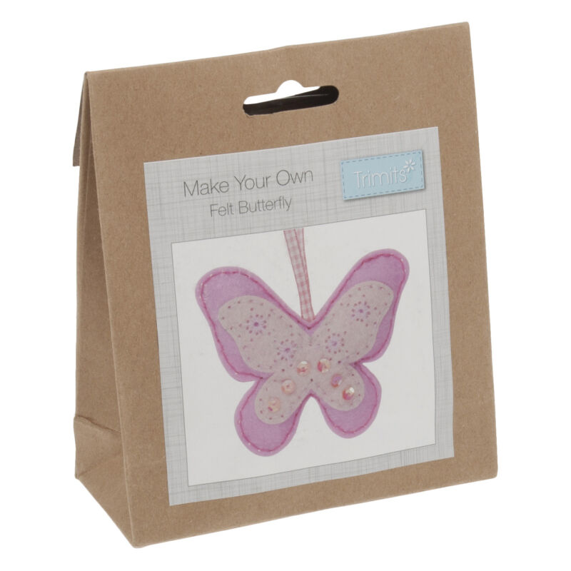 1x+Felt+Decoration+Thread+Kit+Butterfly+Sewing+Craft+Tool+Hobby+Art+UK