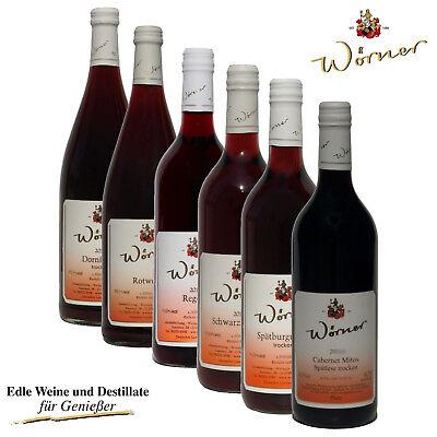 WEINGUT WÖRNER: 6 Fl. Wein - Probierpaket - Rotwein trocken-halbtrocken   Pfalz