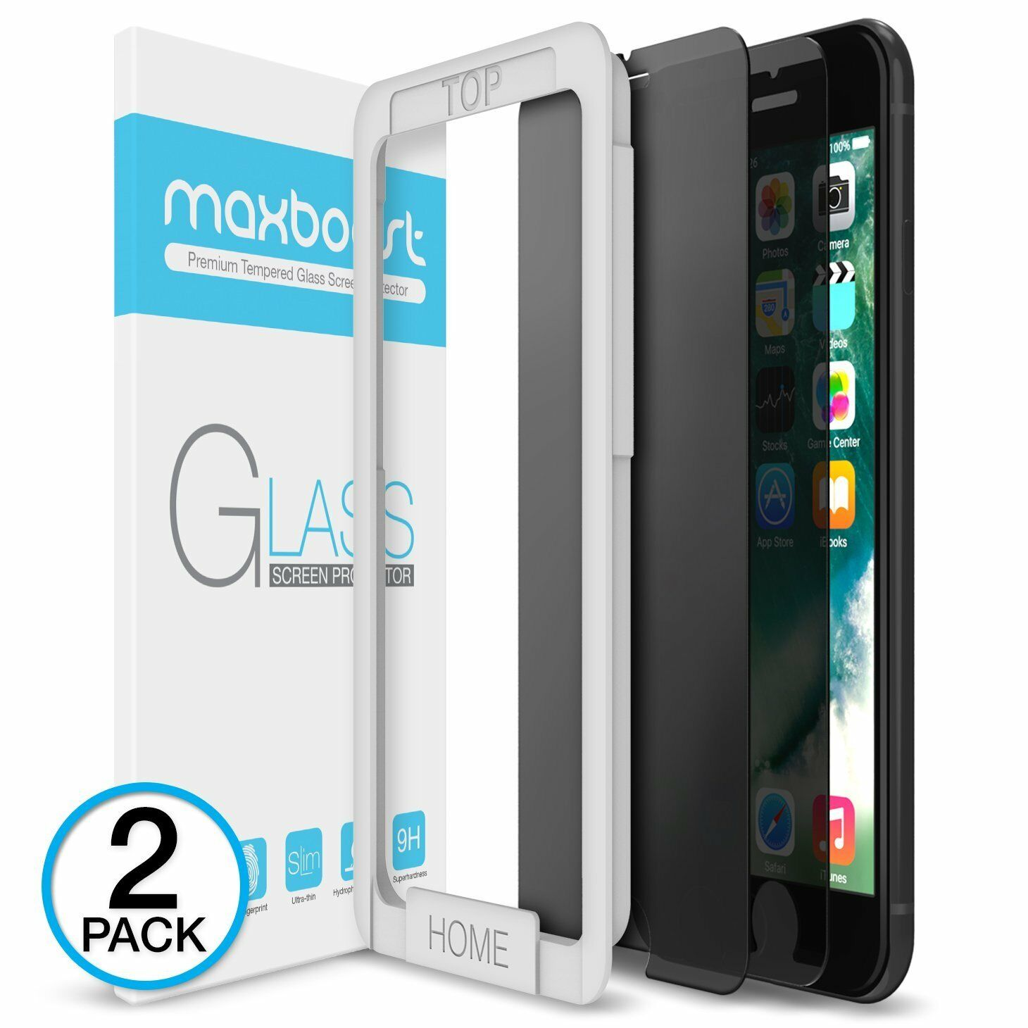 iPhone 6 7 8 X XR XS MAXBOOST Plus 3D Screen Protector Maxbo