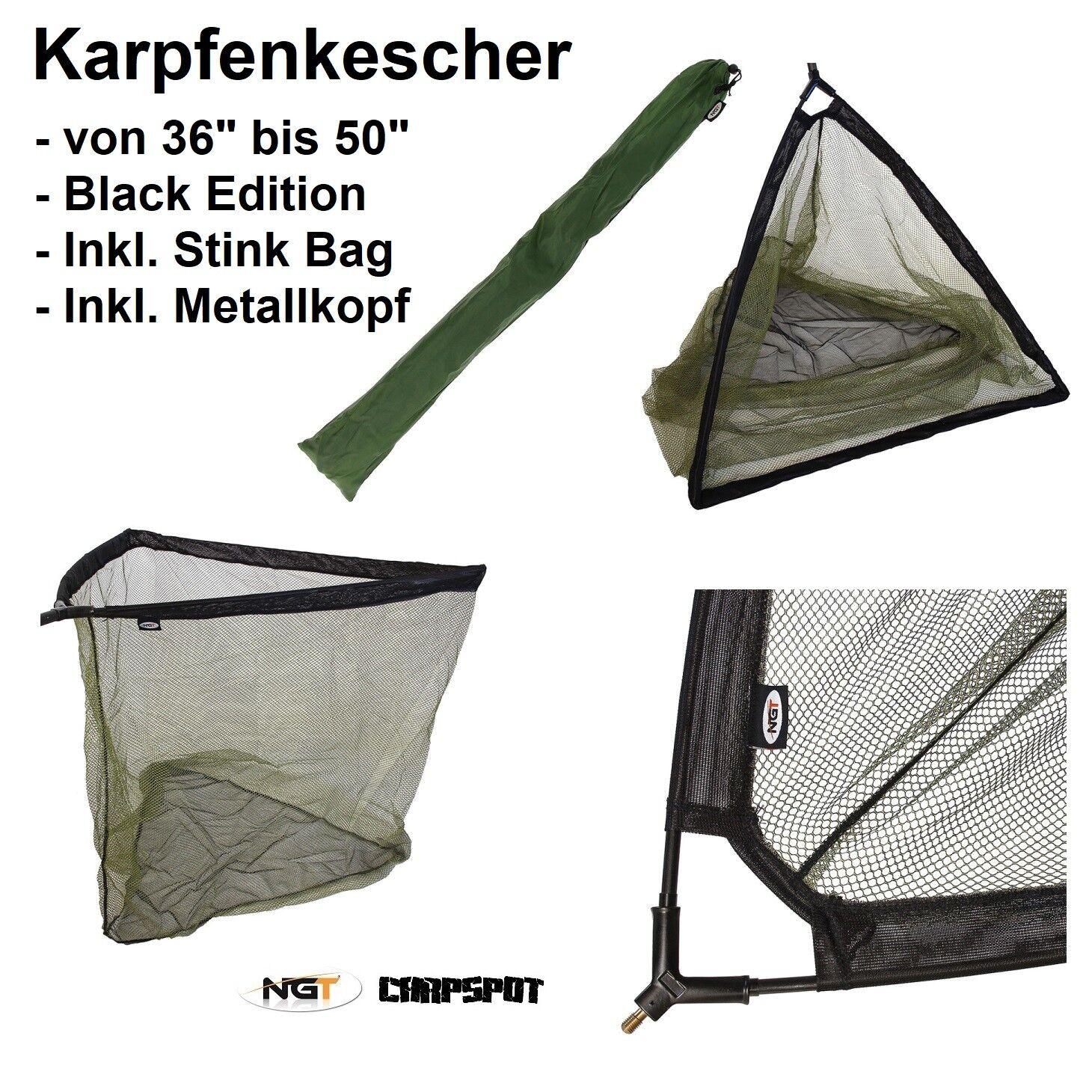 Tasche /& Alu-Stab Angel Setz Kescher inkl PALADIN Fishing Setzkescher 3,50m