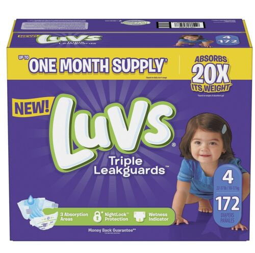 Luvs Ultra Leakguards Diapers Size4, -172 ct. (22-37 lb.)