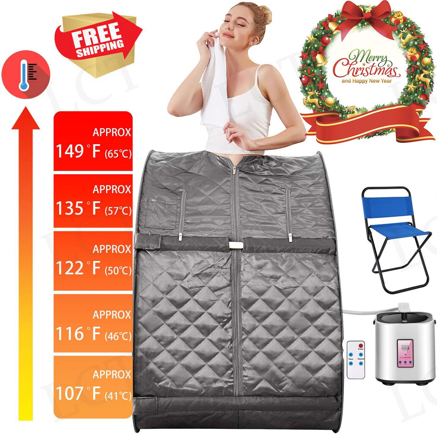 2L Portable Home Steam Sauna Spa Full Body Sauna Tent Loss W