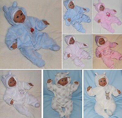 Overall Kapuze (Baby Overall Nicki Strampler  mit Kapuze Mädchen Jungen)