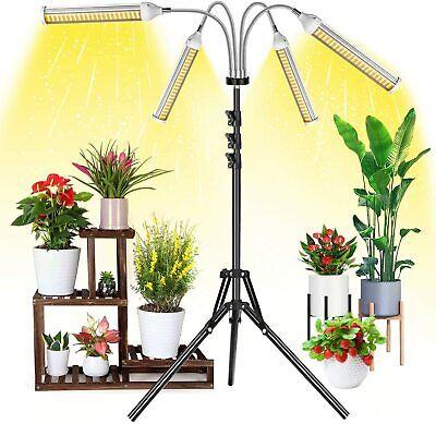 Garpsen Grow Lights with Stand, LED Grow Light for Indoor Plants, 420 LEDs 4 Hea