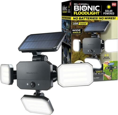 Bell + Howell Bionic Floodlight Motion Sensing Outdoor Light with Remote Control