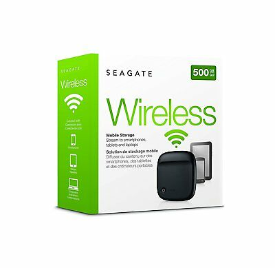 Seagate STDC500100 500 GB Wireless Hard Drive Black,stream laptop,tablet,smartph