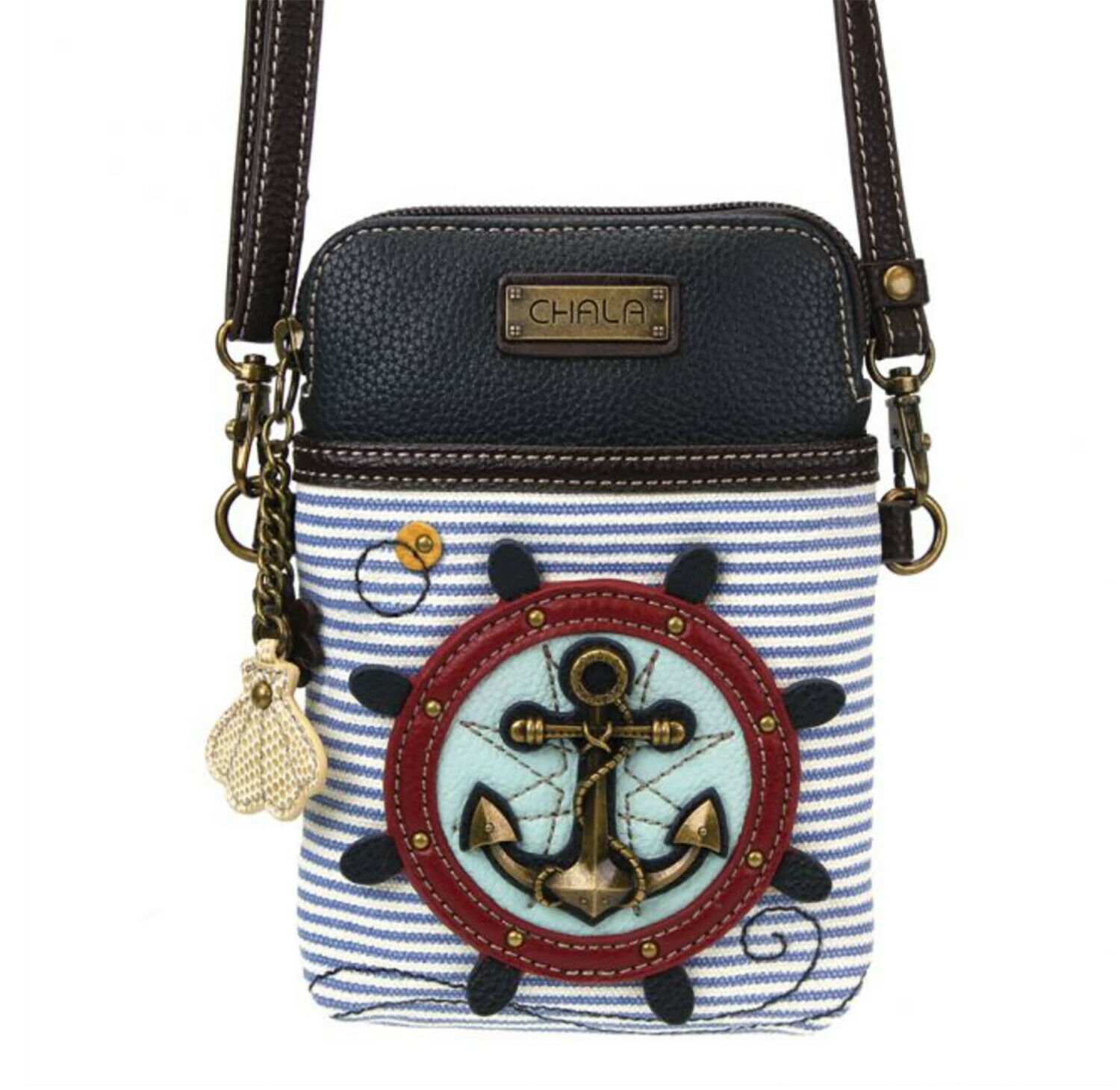 New Chala Cell Phone Purse Crossbody Pleather Convertible AN