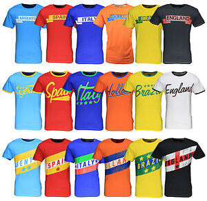 New-Mens-World-Cup-Football-T-Shirt-Brazil-2014-Summer-Soccer-Jersey-Top