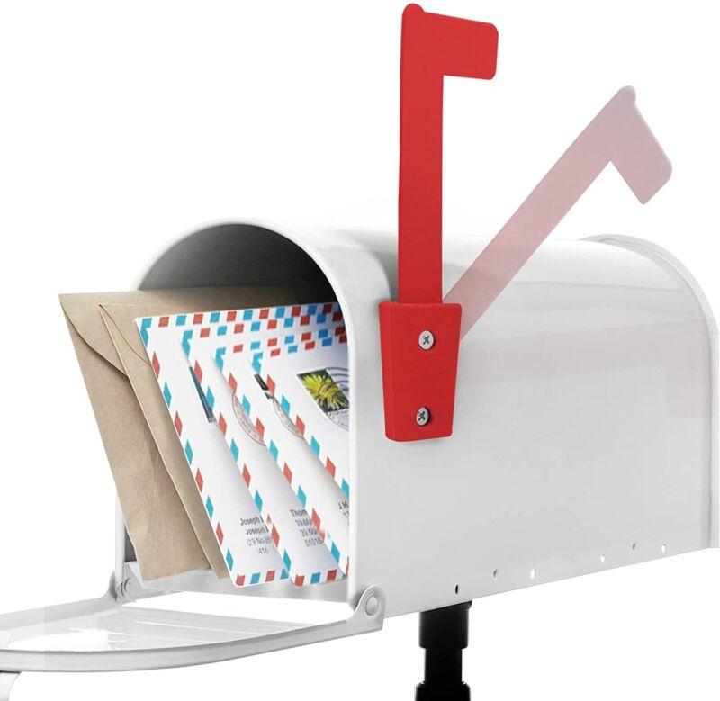 Anley Mail Mailbox Flag - Rust Resistant Alert Postal Carrier Raised Signal Flag