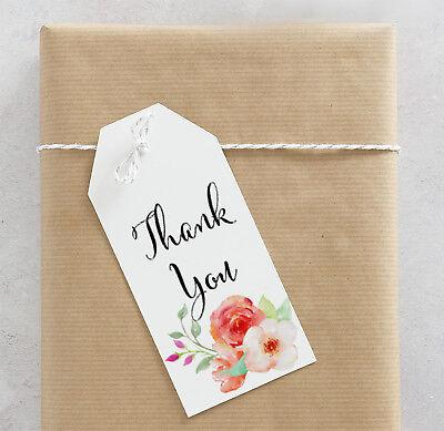 25 Floral Mini Favor Tags, Bridal Shower Favor Tags, Personalized Tags, Gift Tag - Bridal Shower Gift Tags