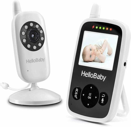 HelloBaby HB24 Baby Monitor with 2.4Inch LCD Display Night Vision