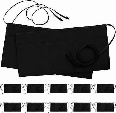 3 Pocket Waitress Apron Waist Aprons For Home And Kitchen Utopia Kitchen