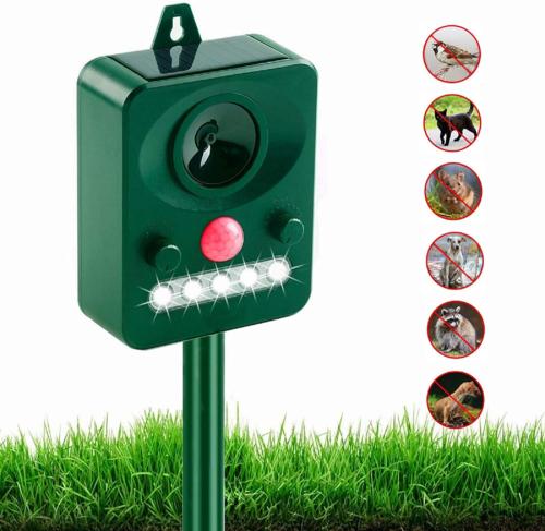 Upgraded Solar Ultrasonic Animal Repeller Outdoor Pest Cat Mice Deer Sensor Home & Garden