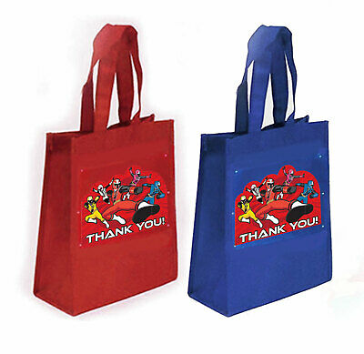 5 Power Rangers Party Favor Treat Goody Bags-Non-Woven Fabric-10