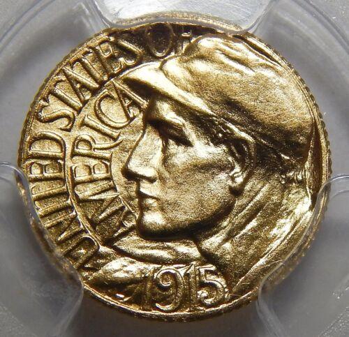 1915-S PCGS MS63 PANAMA PACIFIC GOLD DOLLAR COMMEMORATIVE