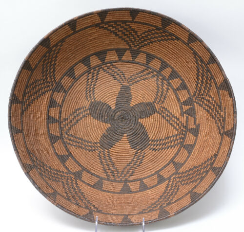 "Antique Basket: Very Fine Weave Western Apache Bowl - c. 1880  20"""