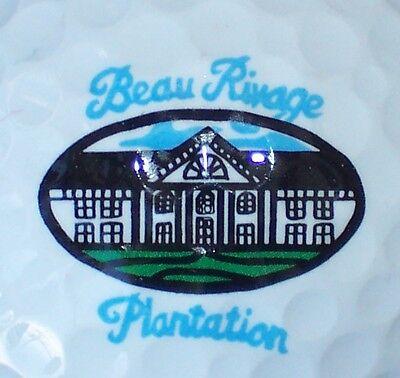 (1) BEAU RIVAGE PLANTATION COUNTRY CLUB GOLF COURSE LOGO GOLF BALL (N CAROLINA) Plantation Golf Country Club