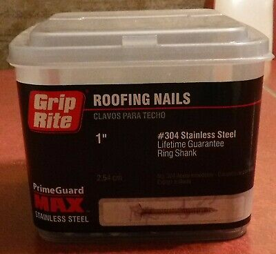 5 Lbs. 1 Ring Shank Solid 304 Stainless Steel Roofing Nails Free Shipping